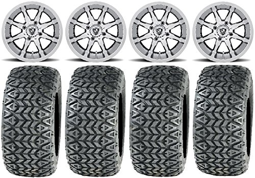 "Bundle - 9 items: Fairway Alloys Shift Mh Golf Wheels 10"" 22x10-10 All Trail Tires"
