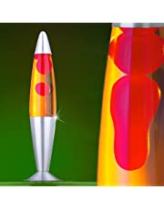 MIA Light Lavalampe ↥425mm| Gelb & Rot | Retro | Lavaleuchte Magmalampe Magmaleuchte Lavalicht
