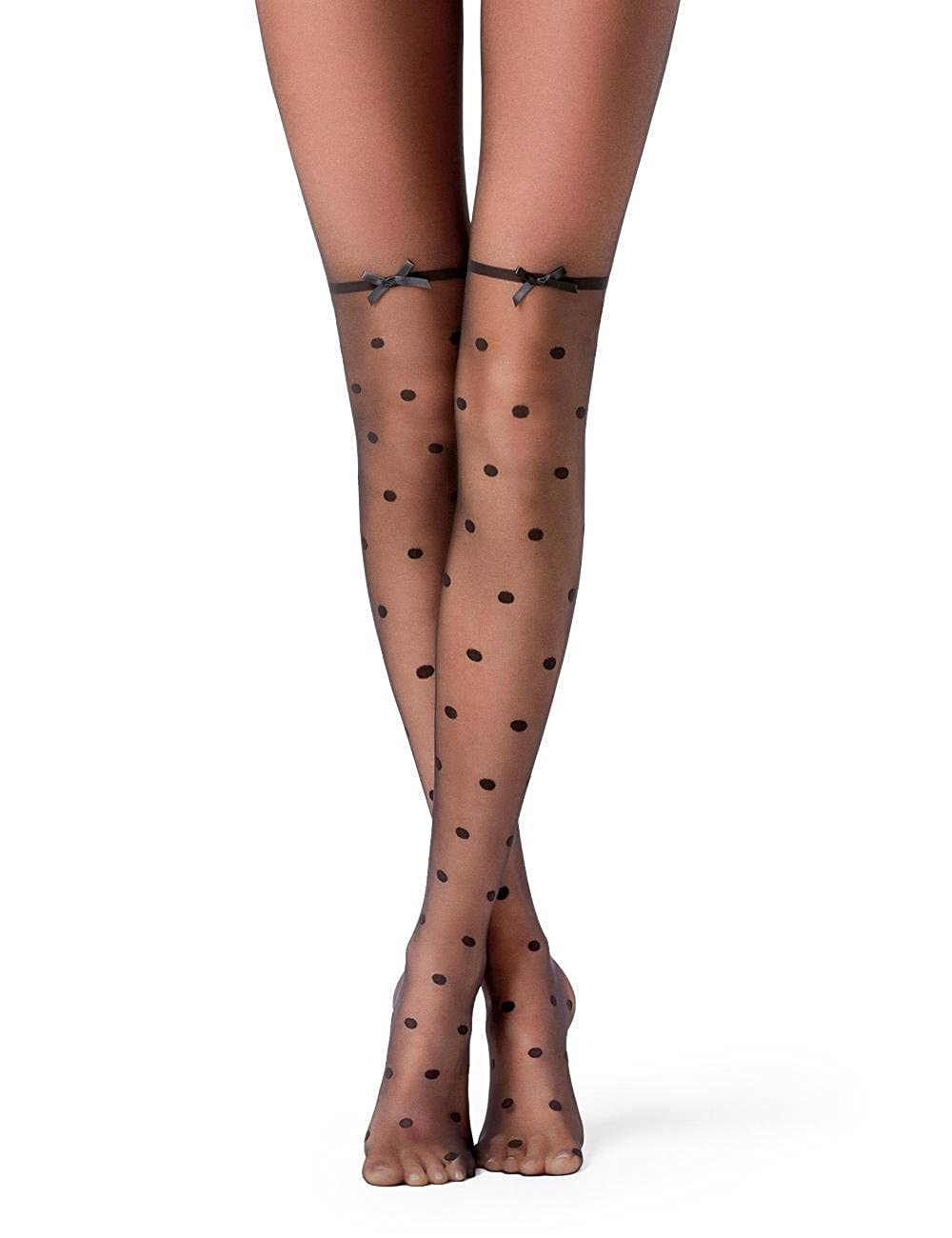 eae43cd0e Calzedonia Womens Dotted Bow-Seam Tights  Amazon.co.uk  Clothing