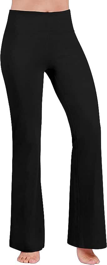 ODODOS Power Flex Boot Cut Yoga Pants Tummy Control Workout Running 4 Way Stretch Boot Leg Yoga Pants
