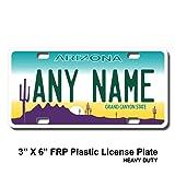 TEAMLOGO Personalized Arizona License Plate - Sizes for Kid's Bikes, Cars, Trucks, Cart, Key Rings Version 1