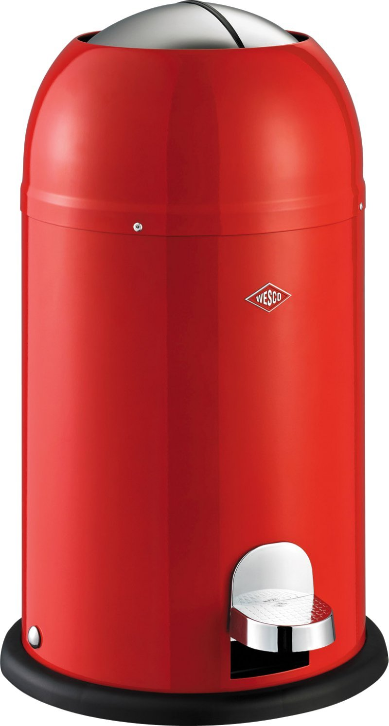 Wesco Kickmaster Junior - German Designed - Step Trash Can, Powder Coated Steel, 4 Gallon / 15 L, Almond Lien & Co Inc. 180312-23 180312_23