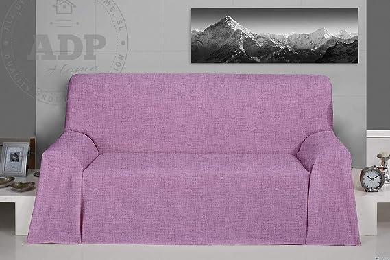 "ADP Home - Plaid/Colcha Multiusos Tejido Loneta ""Marble"" Ideal para Cubrir Sofá (180X280 CM) Lila"