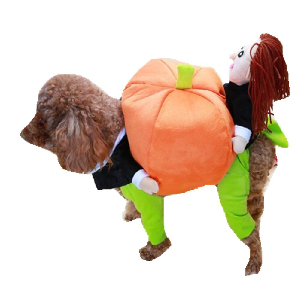 M back length 35 happinesssale Halloween pet Transform Costume Dog's Lift The Pumpkin Style Jumpsuit (M Back Length 35)