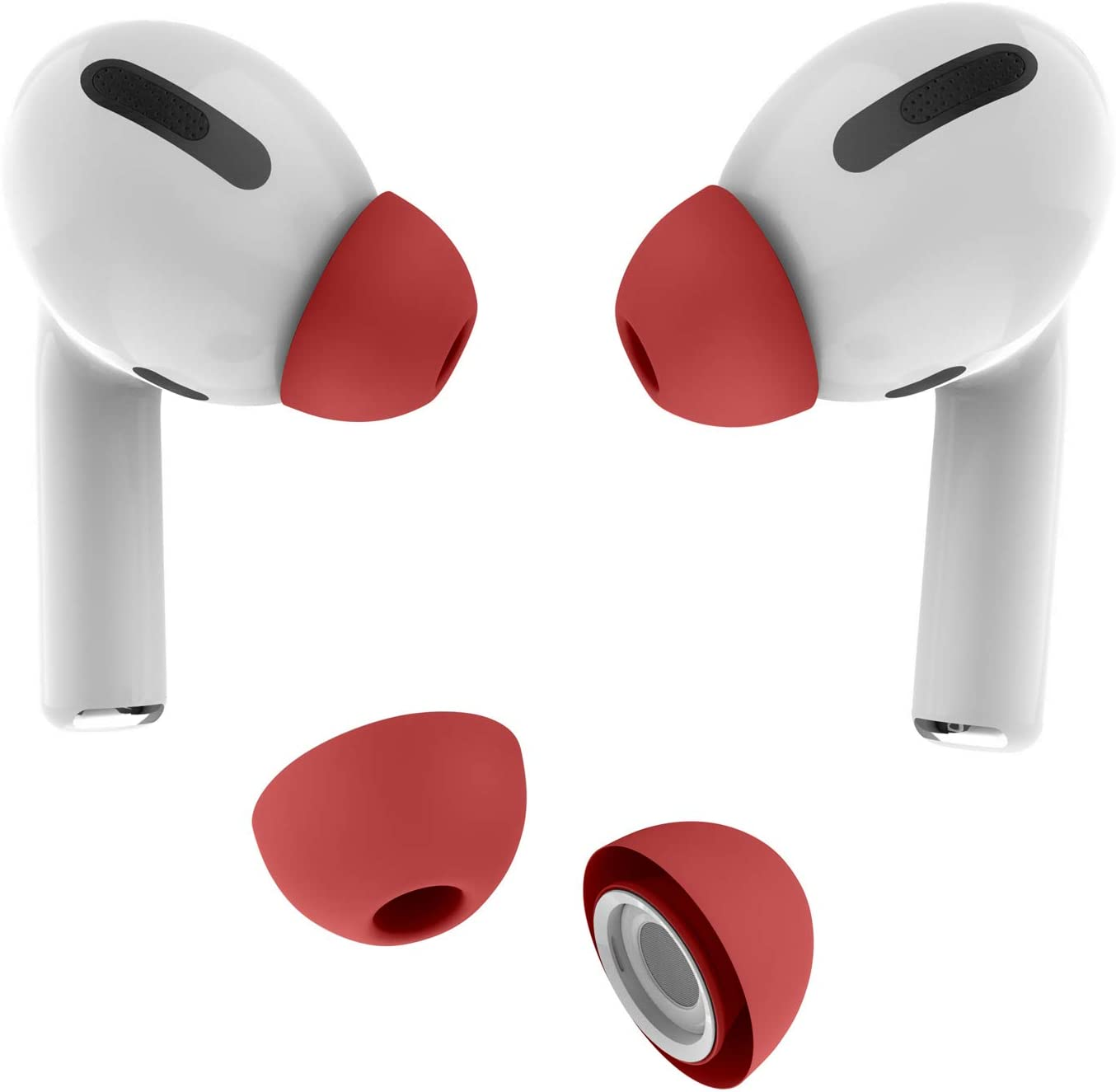 Amazon Com Allbingo Ear Tips Compatible With Airpods Pro 2 Pairs Silicone Anti Slip Replacement Earbuds Cover Accessories Small Medium Large Compatible For Apple Airpods Pro Medium Red Home Audio Theater