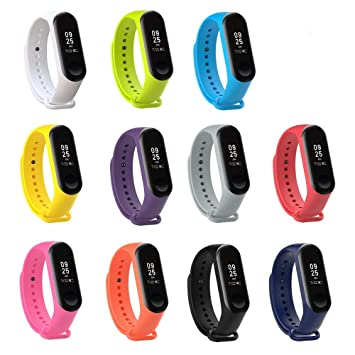 XIHAMA - Correa de Silicona Suave de Repuesto para Reloj Deportivo Inteligente Xiaomi Mi Band 3 (Set3(11 pcs)): Amazon.es: Electrónica