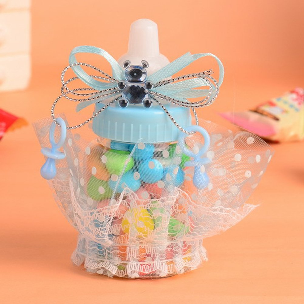 LianLe - 12 biberones para rellenar con caramelos, regalo ideal para bautizo o fiesta de llegada del bebé