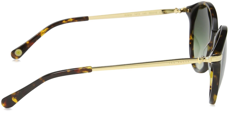 17f83596b9ed Ted Baker Sunglasses Women's TB1413 Ariane Round Sunglasses 55 mm,  Tortoise: Amazon.co.uk: Clothing