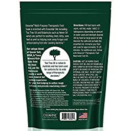 Oleavine Tea Tree Oil Foot Soak with MSM, Neem and Epsom Salt 16oz