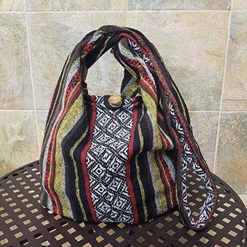 Multicolored Messenger Thai Cotton Crossbody BTP Hand Ikat Woven Hobo A104 Bag Purse Sling Hippie 7Aqd5dwY1
