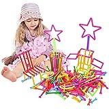 EsOfficce Interlocking Stem Toys, 240 Pcs Building Construction Blocks, Construction Building Toy, 3D Puzzle Toys, Plastic Creative Engineering Toys for Kids
