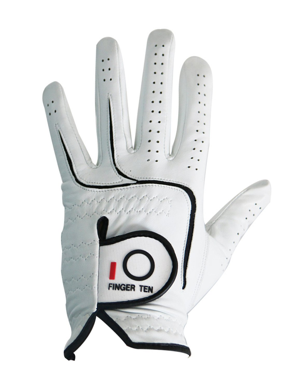FINGER TEN 2017 Mens All Premium Soft Cabretta Leather Tour Durafit Left Hand Lh Golf Gloves Extra Value 6 Pack Cadet Size
