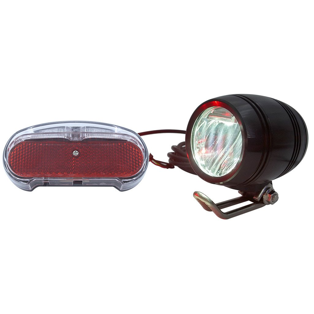 ZOOMPOWER 36v 48v compatitable e-bike headlight taillight set front light rear light set headlamp taillamp set 3w