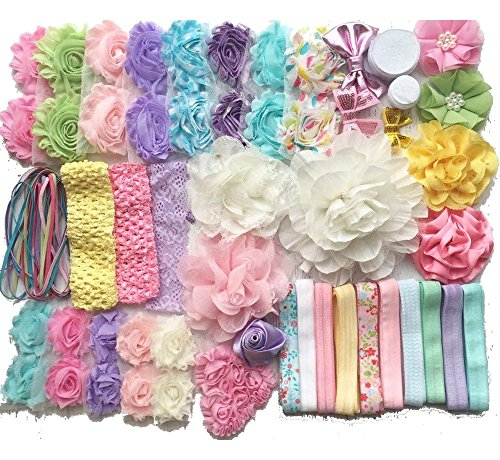 Baby Shower Headband Kit Makes Over 30 Headbands, Baby Shower Headband Station, DIY Baby Headband Kit -