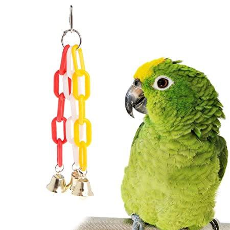YFairy - Cadena con campana - Juguete para mascotas - Papagayo ...