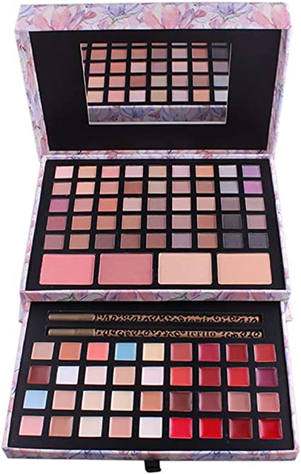 PhantomSky 85 Colores Sombra De Ojos Paleta de Maquillaje Cosmética con Corrector, Polvo, Rubor y Brillo de labios - Perfecto para Uso Profesional y Diario: Amazon.es: Belleza