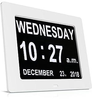 Reloj de día HeQiao, digital, con fecha y hora, calendario, relojes especiales