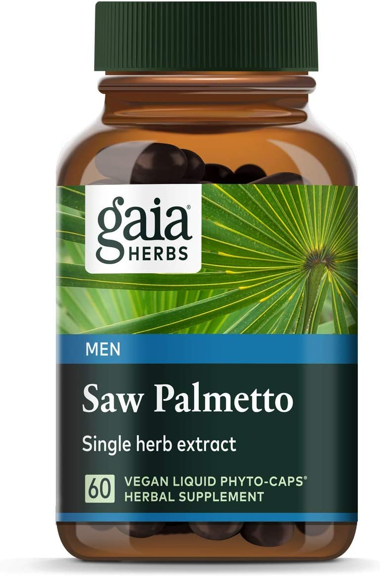 Gaia Herbs Saw Palmetto Liquid Phyto-Capsules, 60 Count (Pack of 1) - Packaging May Vary