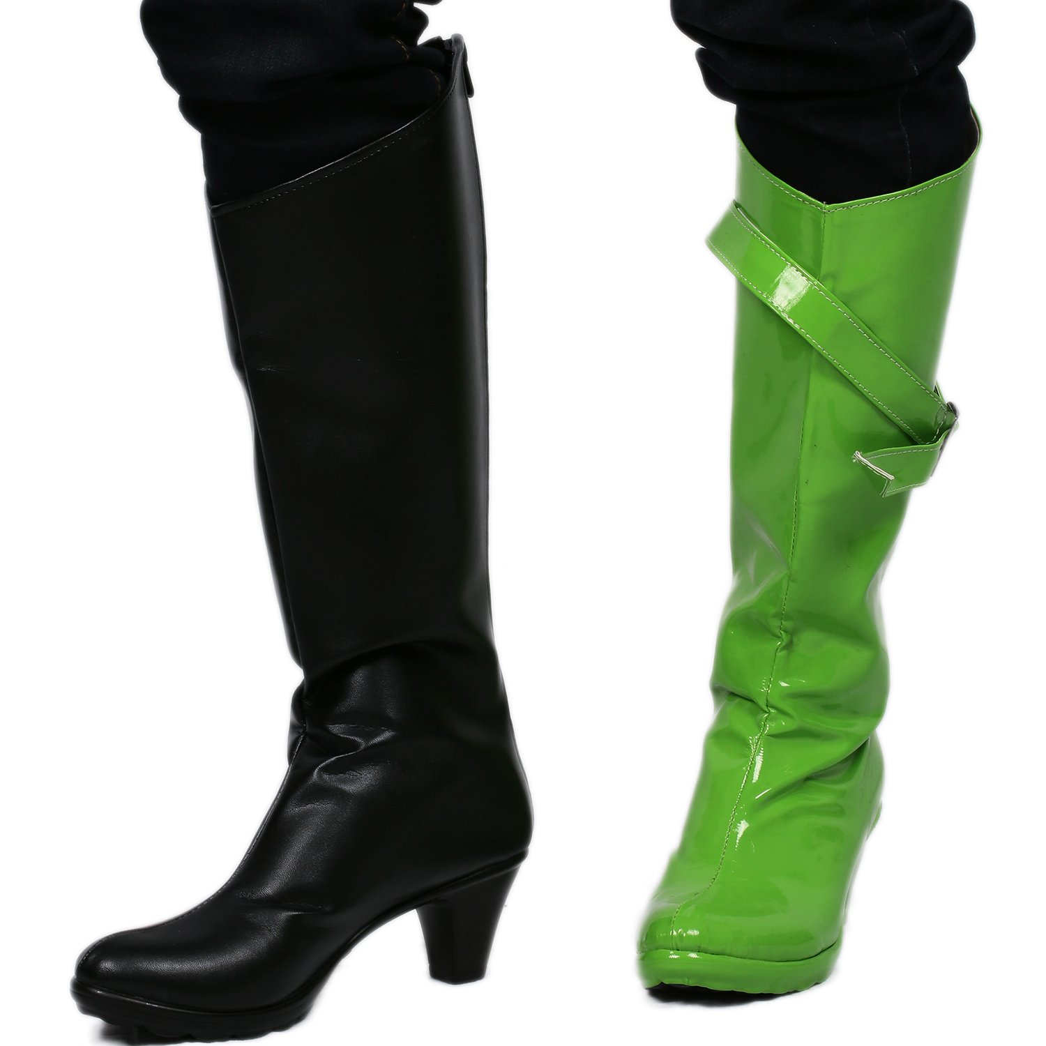 : Girls Shego Cosplay Boots Shoes Costume