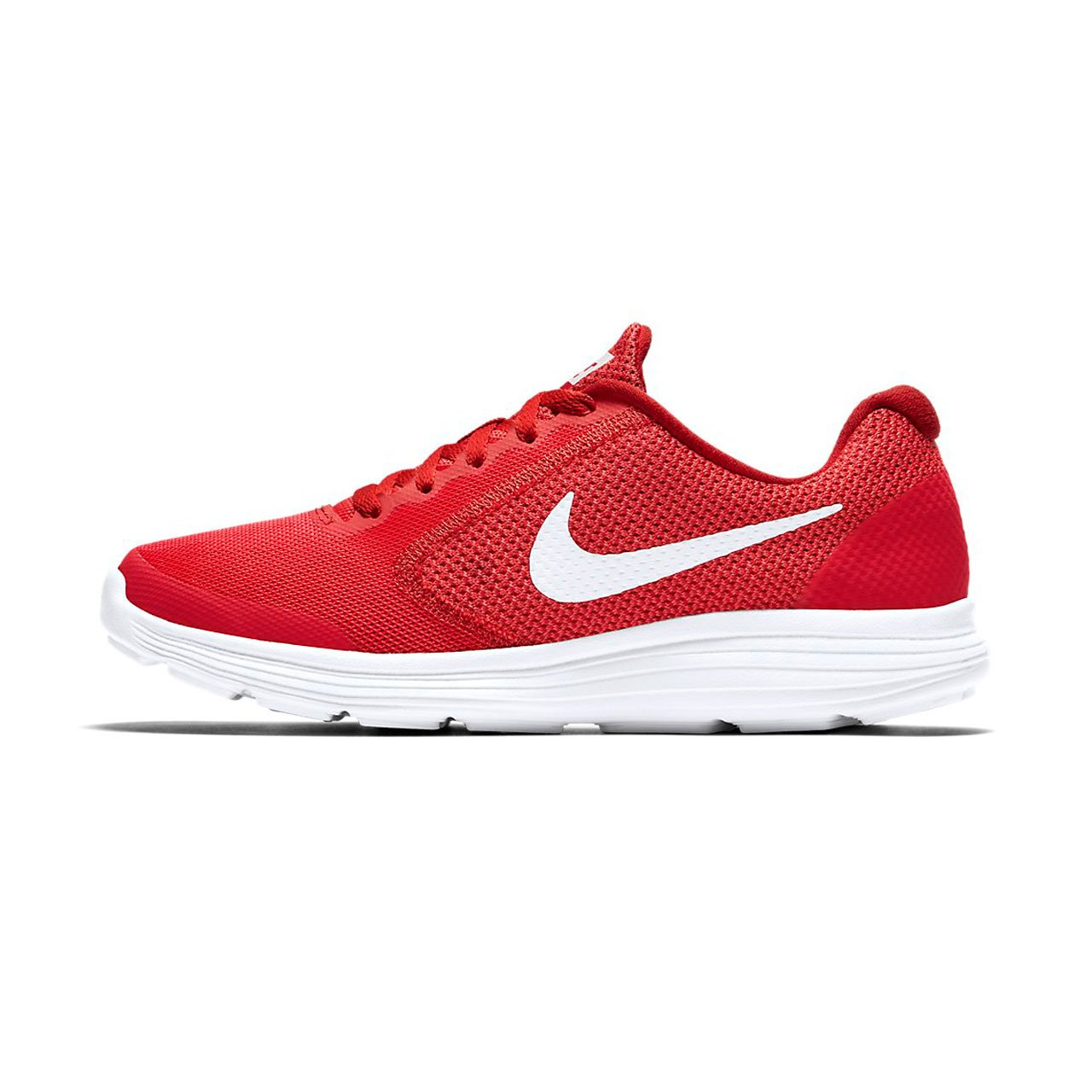 NIKE ' Revolution 3 (GS) Running Shoes B007KQ5P8O 4.5 M US Big Kid|Track Red/White/University Red