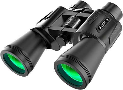 Binoculars for Adults Bird Watching, The E-Shine 10×50 High-Powered Surveillance Binocular HD Binoculars Compact for Easy Focus for Travelling, Hunting, Sports, Concert