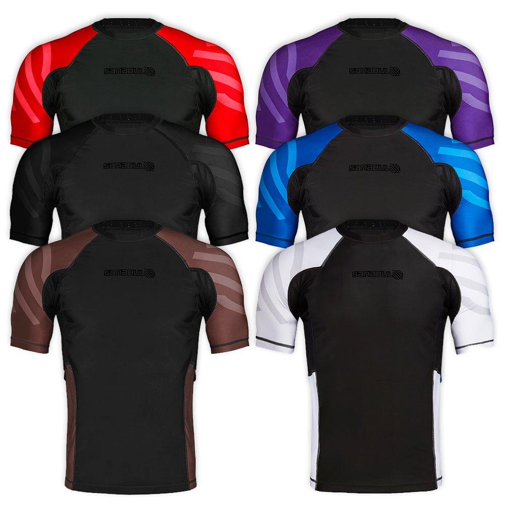Sanabul Essentials Short Sleeve Compression Base Layer Rash Guard (X-Large, All Black) by Sanabul