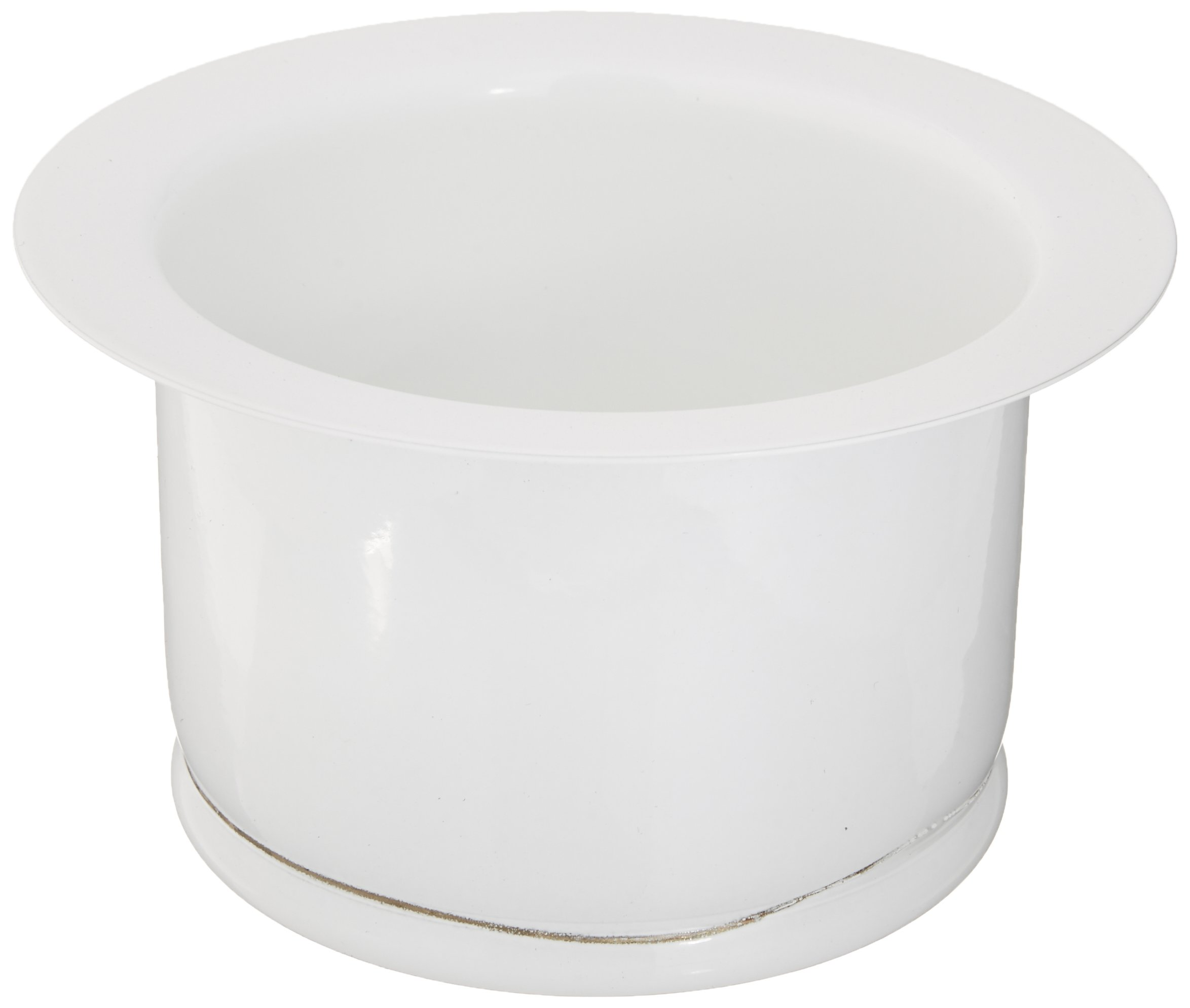 Rohl ISE10082WH 2-1/2-Inch Extended Throat for Fireclay Sinks and Shaws Sinks in White by Rohl