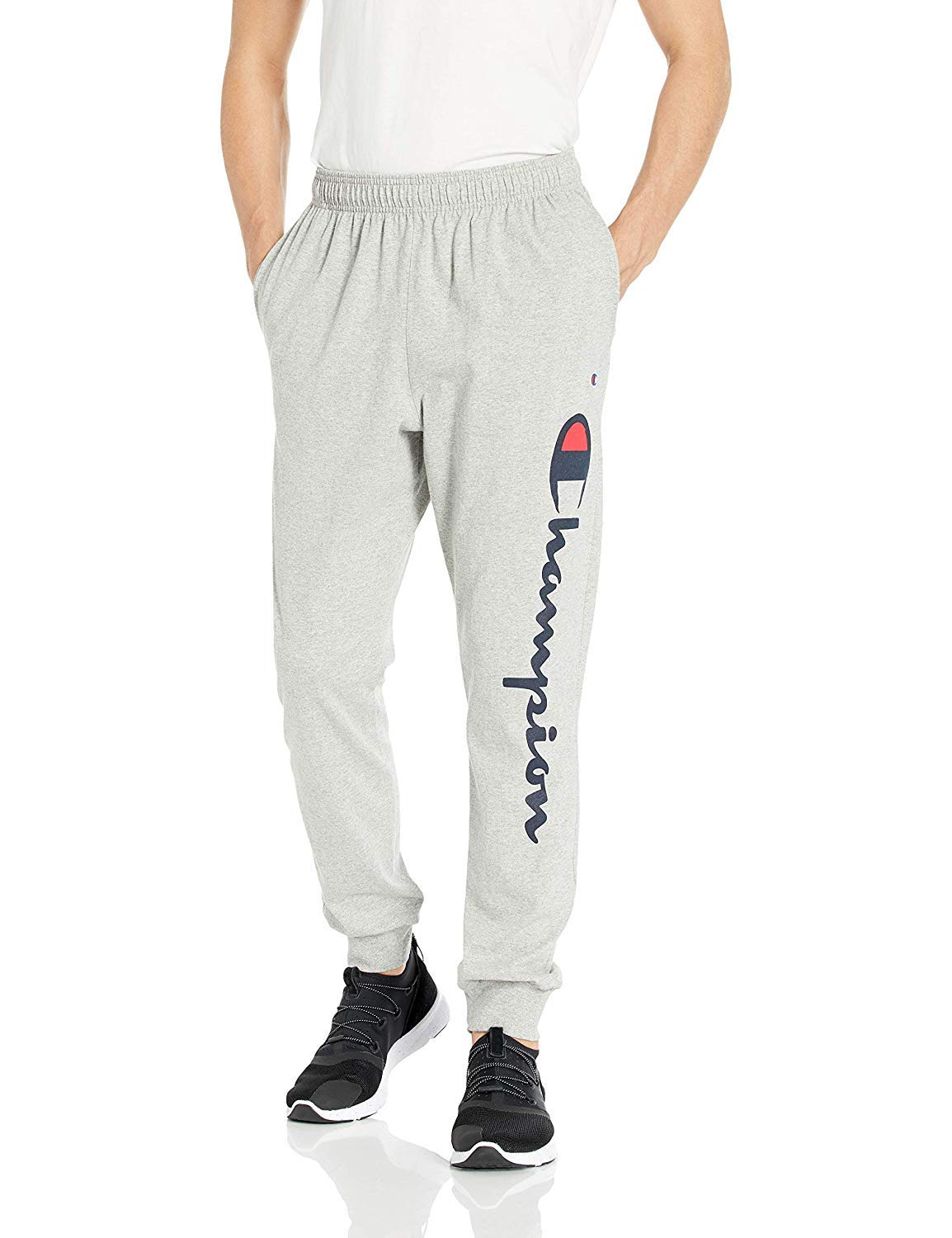 Champion Men's Classic Jersey Graphic Jogger - Y07234 Oxford Grey Large 31