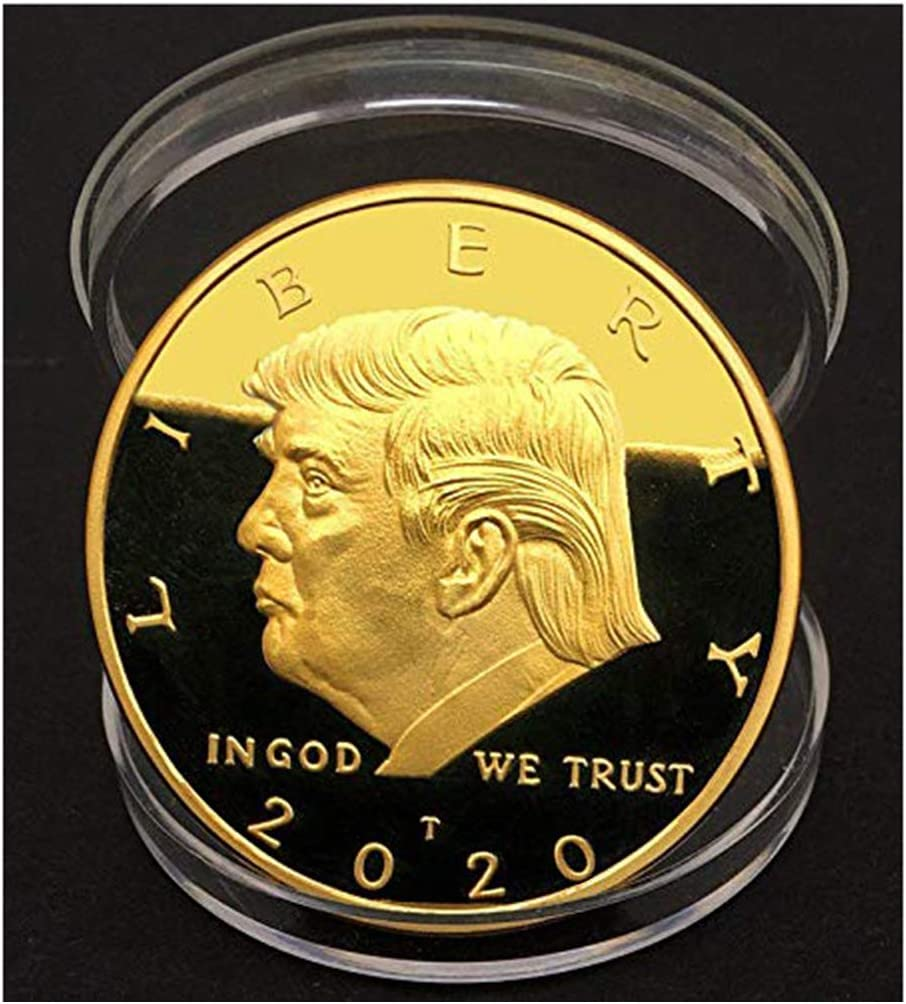 Us 45th President Donald Trump Coin Metal Coins Collection for Holiday Gift