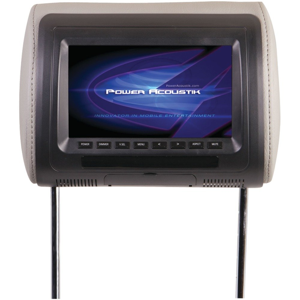 POWER ACOUSTIK H-71CC Universal Headrest Monitor with IR Transmitter & Interchangeable Skins (7'''') Computer, Electronics