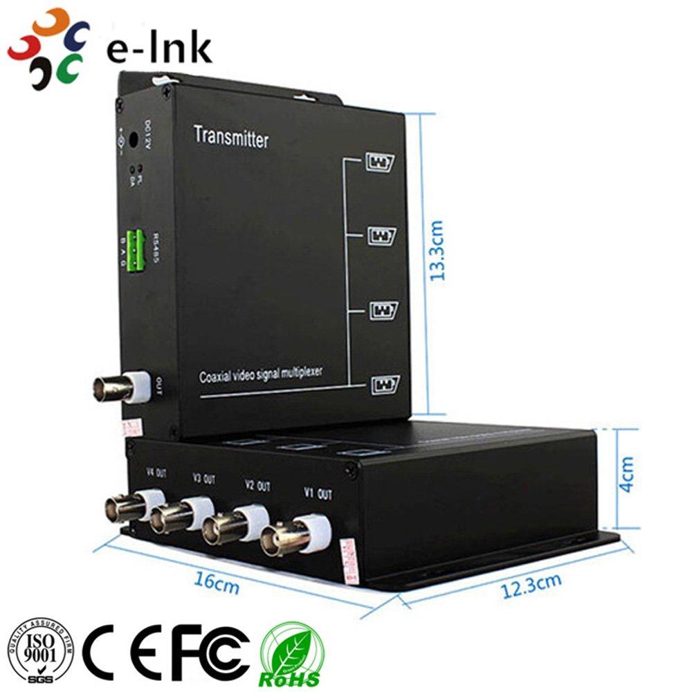 4 canales multiplexor de vídeo para 1 Cable Coaxial: Amazon.es: Electrónica