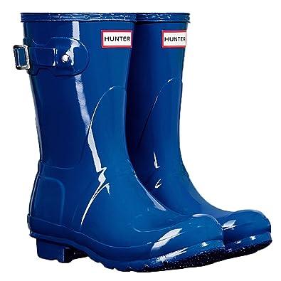 Hunter Womens Original Short Azure Rain Boot  6 BM US