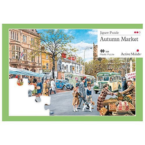 Active Minds 35 Piece Autumn Market Jigsaw Puzzle | Specialist Alzheimer's/Dementia Activities & Games by Active Minds