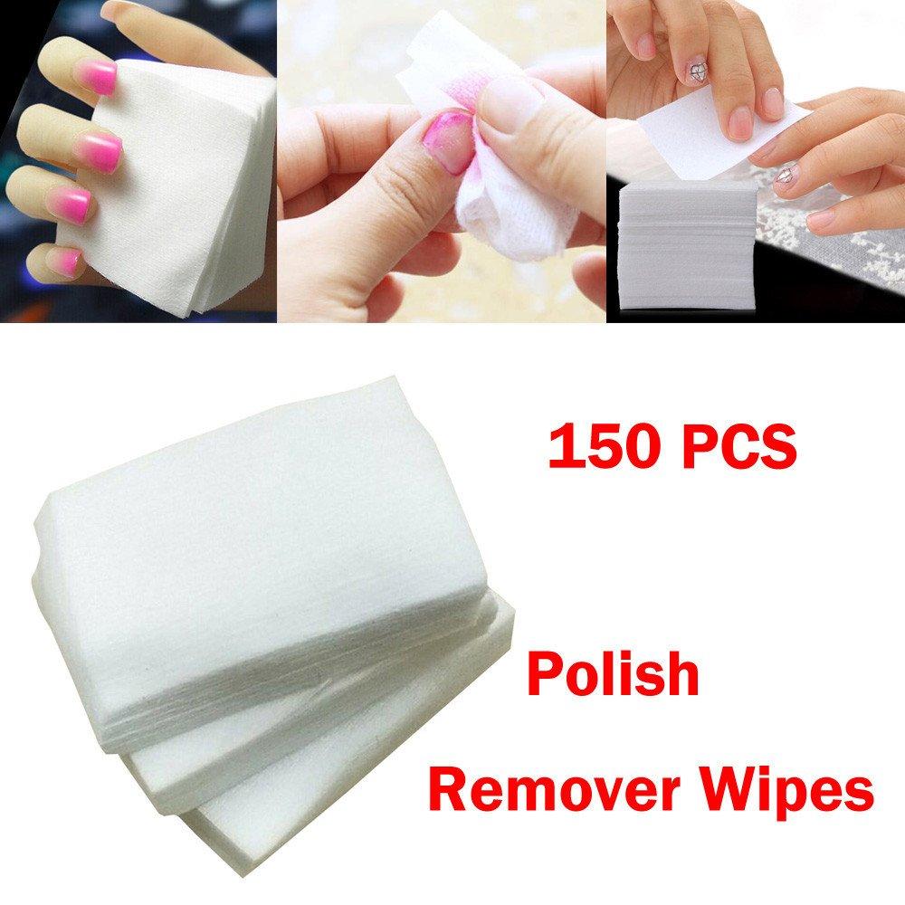 Elevin(TM) 150pcs Lint Free Nail Art Gel Polish Remover Cotton Pad Nail Wipe