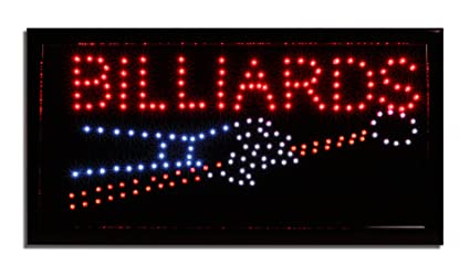 Amazoncom LED Neon Lighted Billiards Sign Pool Table Sign - Neon pool table