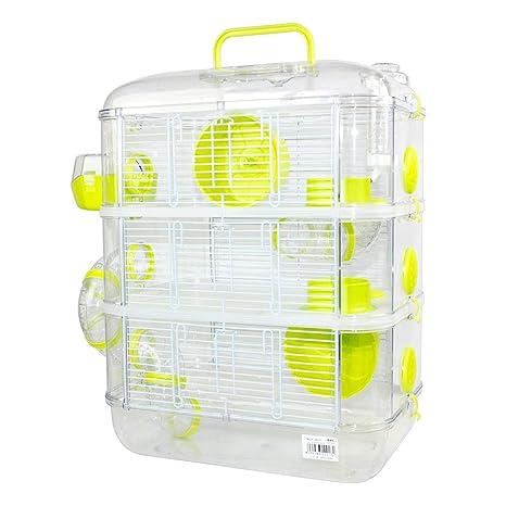 Jaulas para Hamster de plástico Duro, Jaula de Hamster XL 3 Pisos ...