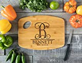 Personalized Cutting Board Engraved Chopping Board Handle - Imprint Monogram Letter