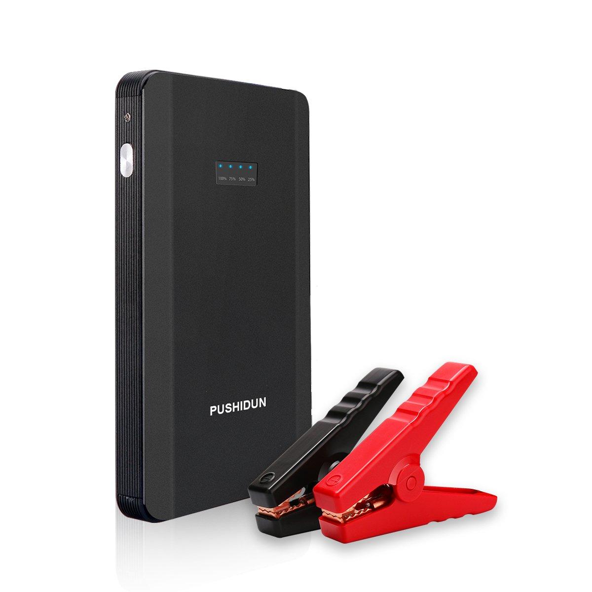 PUSHIDUN Jump Starter mAh A Pico Portable Acelerador de batería hasta L