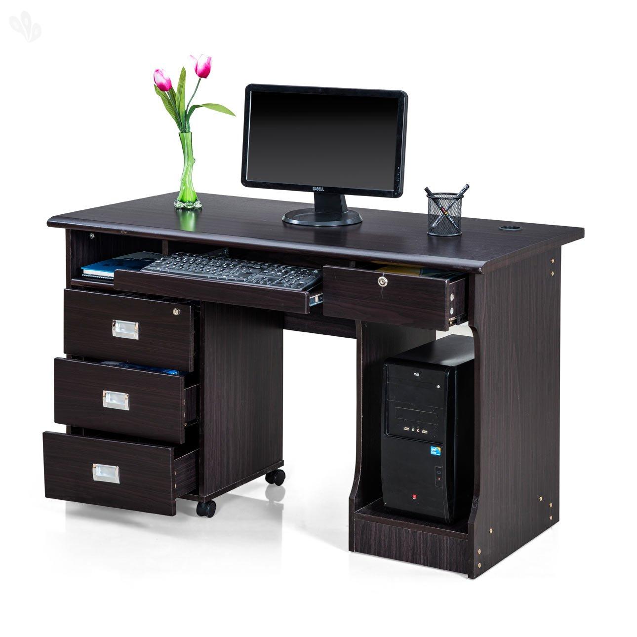 Royal Oak Petal Office Table Black Amazonin Home Kitchen