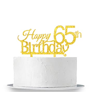 Image Unavailable Not Available For Color INNORU Happy 65th Birthday Cake Topper