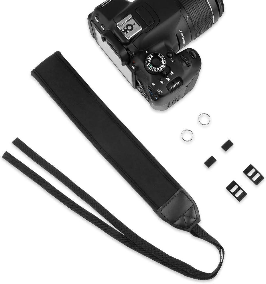 TOAZOE Black Anti-Slip DSLR Camera Neoprene Neck//Shoulder Strap for Canon Nikon Sony Panasonic FujiFilm Olympus and More Digital SLR Camera