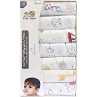 Billy Bum Washcloth for New Born 100% Hosiery Cotton/Reusable Extra Soft Face Towels washcloth for Babies (Pack of 7) Color May BE Vary (Pack of 1, Design-1)