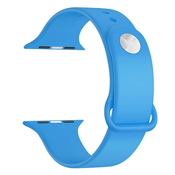 bd640920ec2 LNKOO Soft Silicone Watchbands Sport Style Replacement Strap Bands  Compatible for Apple Watch (38mm