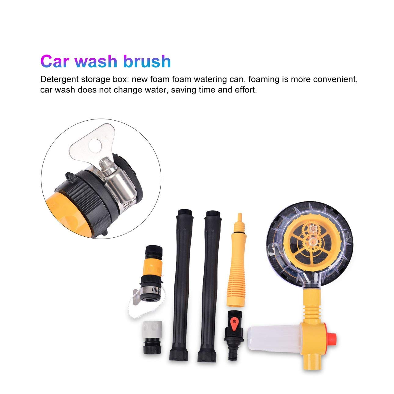 Liobaba Household Car Wash Automatic Rotating Car Wash Brush Car Brush Car Wash Tool