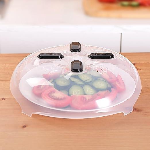 Microondas tapa, alimentos tapa antisalpicaduras magnético anti-spray BPA libre Pan Plato Tapa con válvula de aire 11,8 pulgadas