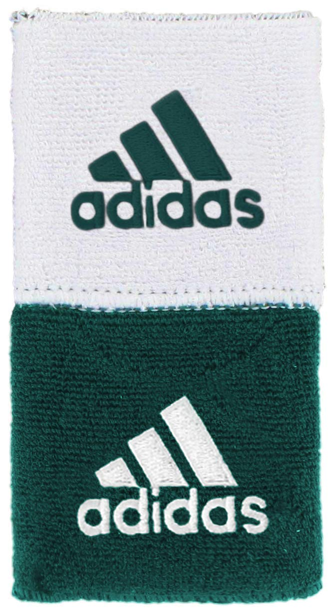 adidas Unisex Interval Reversible Wristband, Team Dark Green/White, ONE SIZE by adidas