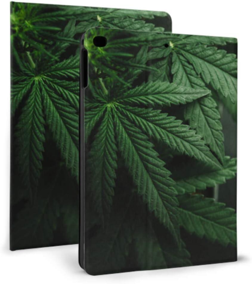 Estuche Ipad a prueba de niños La marihuana deja el cannabis en los niños oscuros Estuche Ipad a prueba de golpes para Ipad Mini 4 / mini 5/2018 6th / 2017 5th / air / air 2 Con Auto Wake / sleep Cu