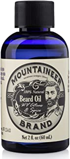 product image for Beard Oil by Mountaineer Brand (2oz) | Premium 100% Natural Beard Conditioner (WV Citrus & Spice)