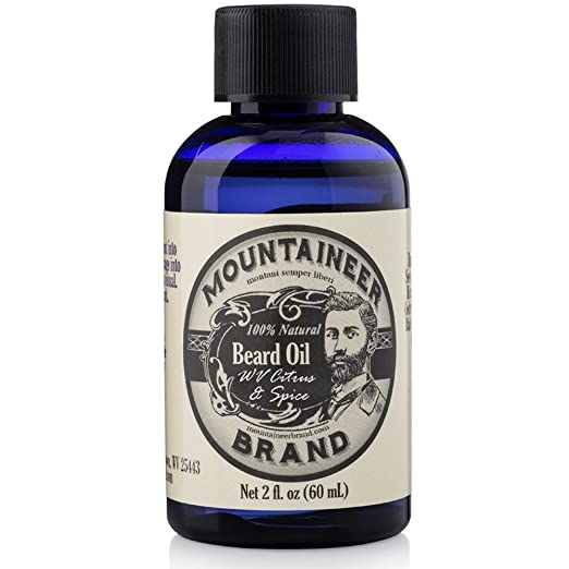 Beard Oil by Mountaineer Brand: WV Citrus & Spice. Beard Conditioning Oil, 2 Ounce Bottle