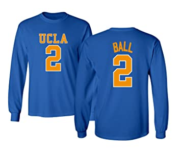 more photos 2b0e2 18217 KINGS SPORTS UCLA 2017 Bruins Lonzo Ball 2 College Basketball Men's Long  Sleeve T-Shirt